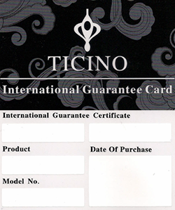 TICINO Watch Co. - Warranty Card
